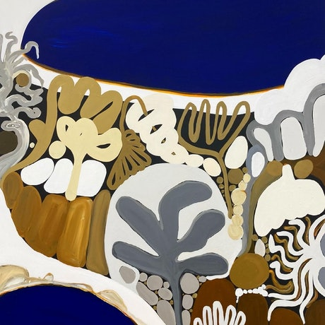 (CreativeWork) Point Nepean XIV  by Sarah Morrow. Acrylic Paint. Shop online at Bluethumb.