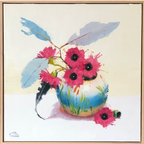 (CreativeWork) Little blossom  (63cm framed) by kirsty mcintyre. Oil Paint. Shop online at Bluethumb.