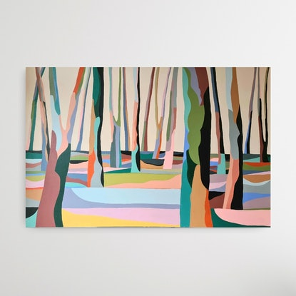 (CreativeWork) Along the side of by Amy Kim. Acrylic Paint. Shop online at Bluethumb.