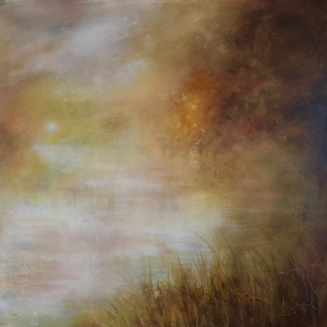 (CreativeWork) Morning Whispers by Cathy Yarwood - Mahy. Oil Paint. Shop online at Bluethumb.