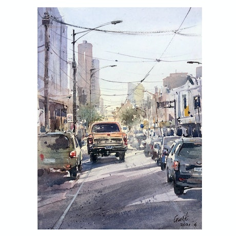 (CreativeWork) The Home Way by Scott (Shi) Guo. Watercolour Paint. Shop online at Bluethumb.