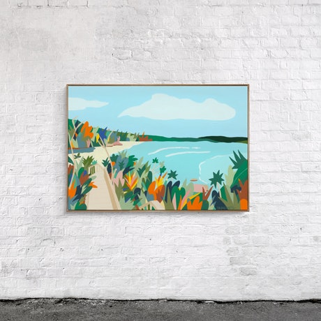(CreativeWork) Watching the Waves by Bruno Mota. Acrylic Paint. Shop online at Bluethumb.