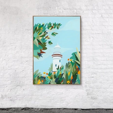 (CreativeWork) On my way to the Lighthouse by Bruno Mota. Acrylic Paint. Shop online at Bluethumb.