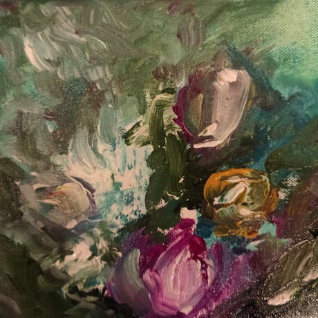 (CreativeWork) Mystery Bunch  by Lucile Hibbsio. Oil Paint. Shop online at Bluethumb.