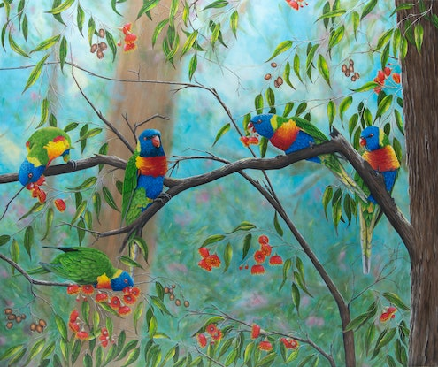 (CreativeWork) Sunday lunch in the Dandenongs limited edition giclee print Ed. 1 of 100 by Debra Dickson. Print. Shop online at Bluethumb.