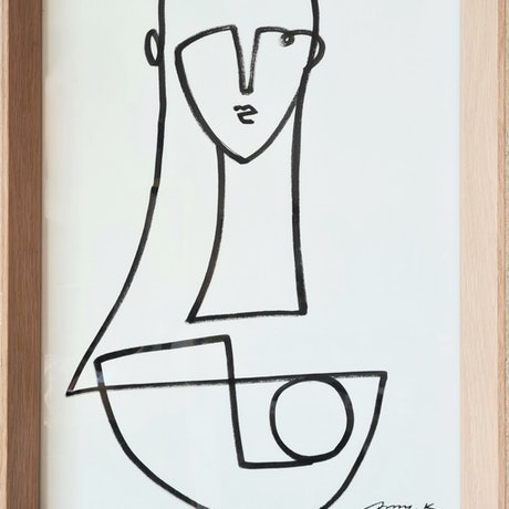 (CreativeWork) Mind control *Framed by Amy Kim. Acrylic Paint. Shop online at Bluethumb.