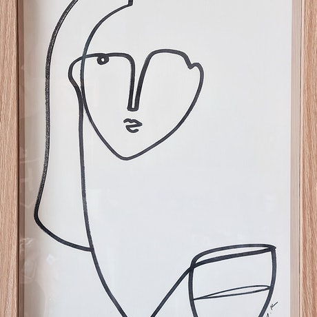 (CreativeWork) Have a sip *Framed  by Amy Kim. Acrylic Paint. Shop online at Bluethumb.