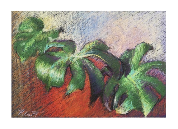 """(CreativeWork) """"Winged Philodendron"""" by Pilar de la Torre. Other Media. Shop online at Bluethumb."""