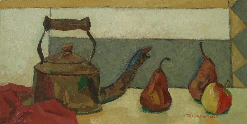 (CreativeWork) Conversation in the Kitchen by Tetyana Khytko. Oil Paint. Shop online at Bluethumb.