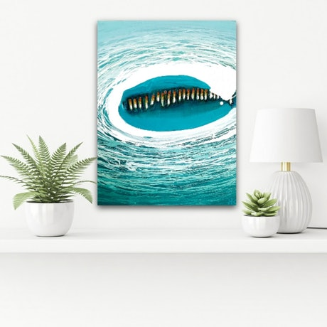 (CreativeWork) CAUGHT IN A WAVE OF TIME  by Holly Kirby. Mixed Media. Shop online at Bluethumb.