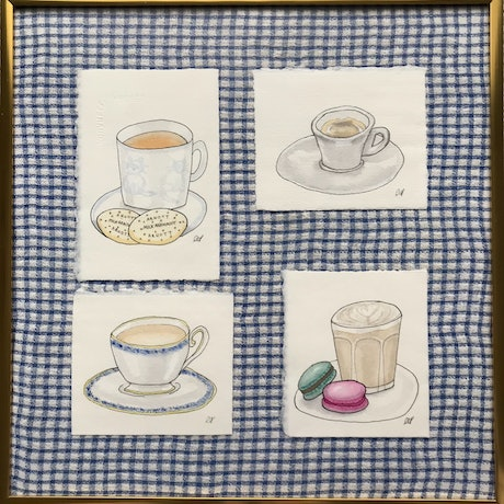 (CreativeWork) Tea or Coffee? by Kathryn Price. Mixed Media. Shop online at Bluethumb.