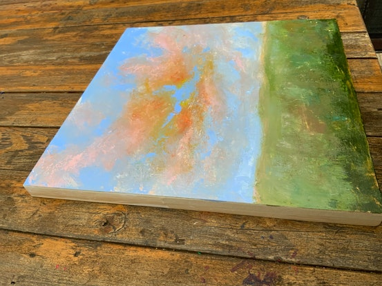 (CreativeWork) Sunset Sky by Jessica Davidson. Acrylic Paint. Shop online at Bluethumb.