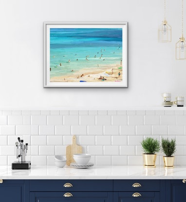 (CreativeWork) Beach Day   Ed. 5 of 25 by Pip Phelps. Print. Shop online at Bluethumb.