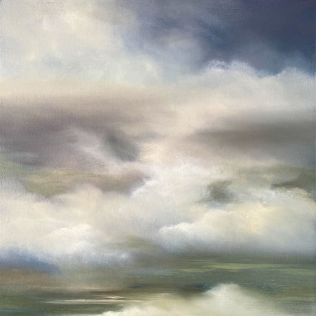 (CreativeWork) From Above 2 by Elaine Green. Oil Paint. Shop online at Bluethumb.