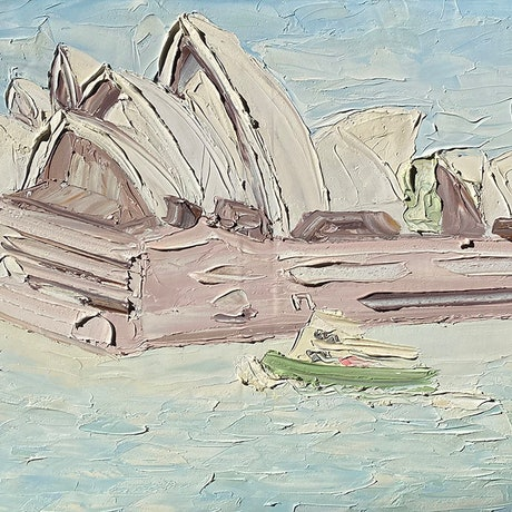 """(CreativeWork) """"Blues Point (30.5.17) - Plein Air"""" by Sally West. Oil Paint. Shop online at Bluethumb."""