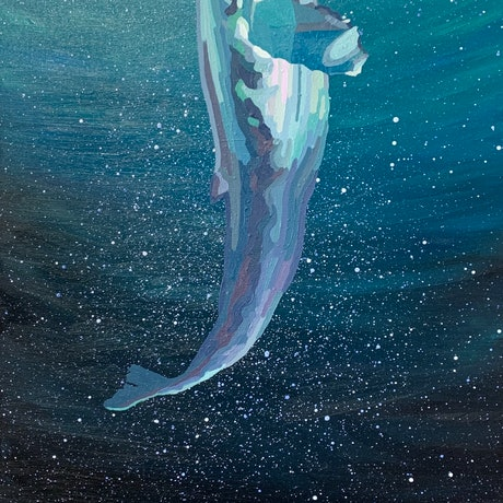 (CreativeWork) Deep Breath by Aylee Kim. Oil Paint. Shop online at Bluethumb.