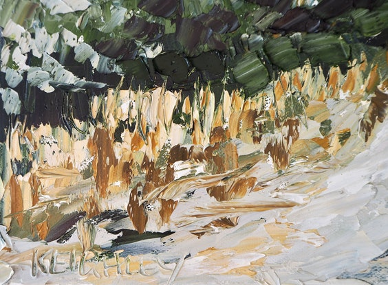 (CreativeWork) Autumn Road  by Michelle Keighley. Oil Paint. Shop online at Bluethumb.