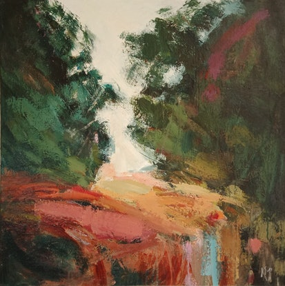 (CreativeWork) HIGH GROUND by Karen McPhee. Acrylic Paint. Shop online at Bluethumb.