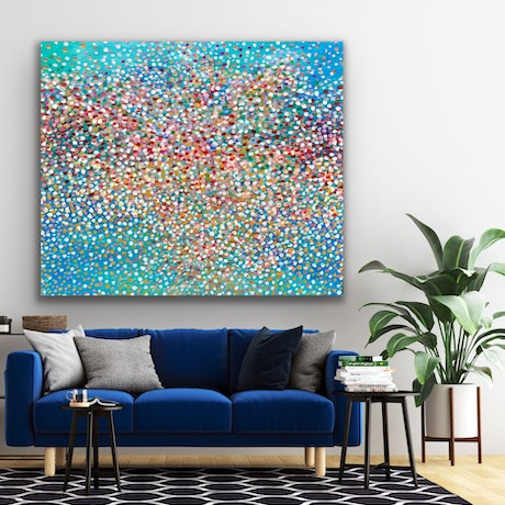 (CreativeWork) Veil of Iceberg petals  by Theo Papathomas. Oil Paint. Shop online at Bluethumb.