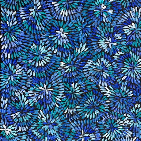 (CreativeWork) Bush Medicine Leaves & Flowers - After the rain  by Louise Numina. Acrylic Paint. Shop online at Bluethumb.