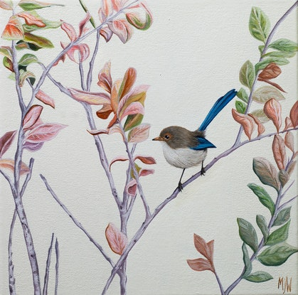 (CreativeWork) Nature's Shades by Michelle Williamson. Oil Paint. Shop online at Bluethumb.