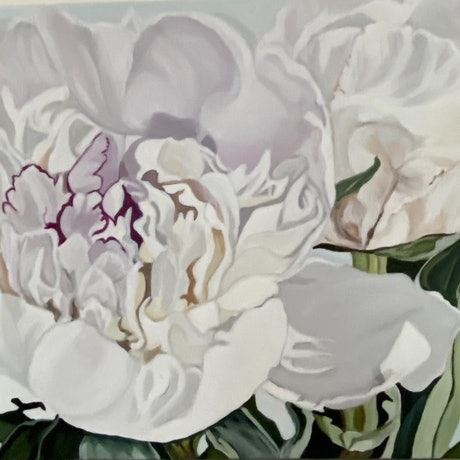 (CreativeWork) White Fresh  by Marilyn Hope Jecks. Acrylic Paint. Shop online at Bluethumb.