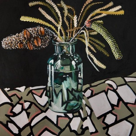 (CreativeWork) The Argument by Belinda Jeanes. Acrylic Paint. Shop online at Bluethumb.