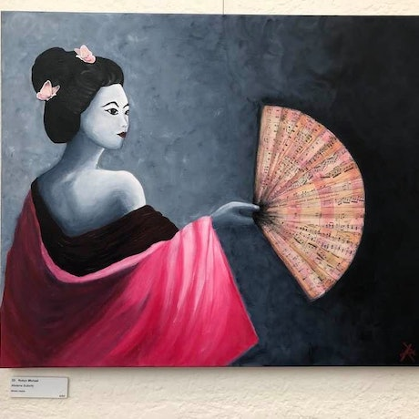 (CreativeWork) Madame Butterfly by Robyn Michael. Mixed Media. Shop online at Bluethumb.