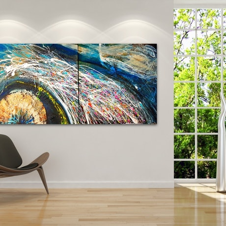 """(CreativeWork) MY new WAY - diptych, """"My WAY"""" series by Basia Kilian. Acrylic Paint. Shop online at Bluethumb."""