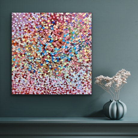 (CreativeWork) Blissful Beauty by Theo Papathomas. Oil Paint. Shop online at Bluethumb.