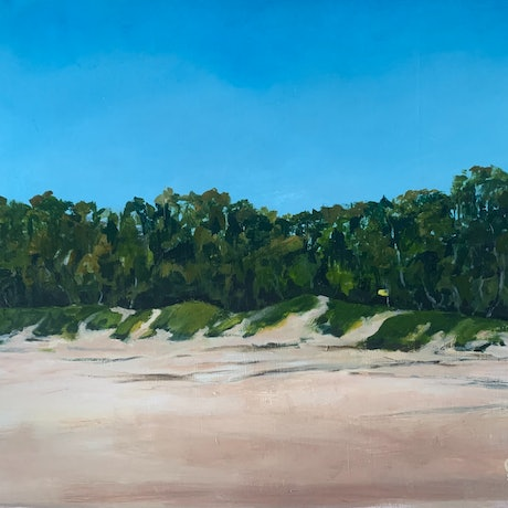 (CreativeWork) South Beach Hastings by Dylan Cooper. Acrylic Paint. Shop online at Bluethumb.