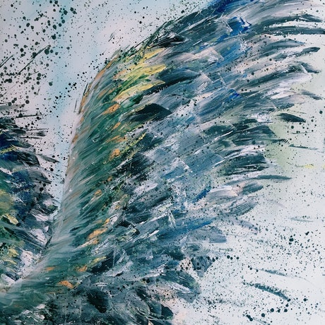 (CreativeWork) Time Is Right Don't Wait - On Eagle's Wings  by HSIN LIN. Acrylic Paint. Shop online at Bluethumb.
