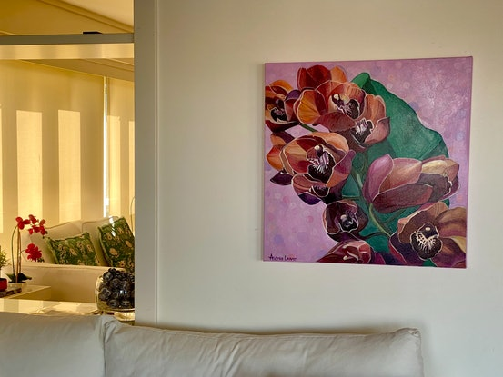(CreativeWork) Mellifluous by Andrea Leaver. Acrylic Paint. Shop online at Bluethumb.