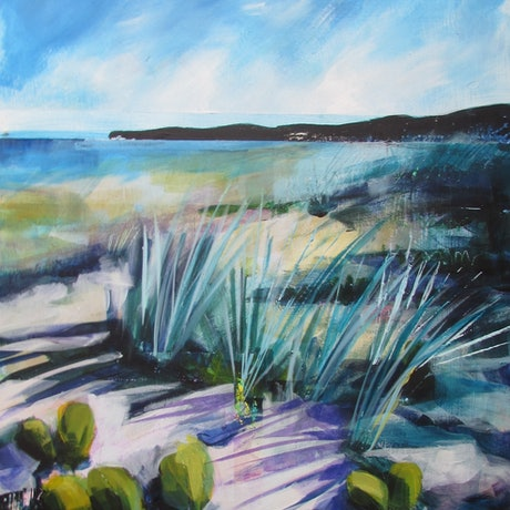 (CreativeWork) Dune Afternoon I by Helen Evans. Acrylic Paint. Shop online at Bluethumb.