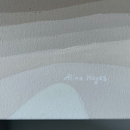 (CreativeWork) Sound of Waves by Alina Hayes. Acrylic Paint. Shop online at Bluethumb.