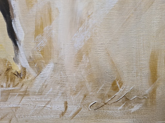 (CreativeWork) Fields Of Gold by Jo S. Stacey. Acrylic Paint. Shop online at Bluethumb.