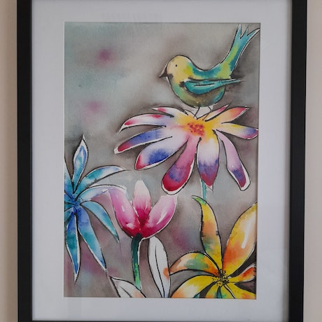 (CreativeWork) New Beginnings by Rachael Charalambous. Watercolour Paint. Shop online at Bluethumb.