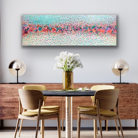 (CreativeWork) Flowers of love by Theo Papathomas. Acrylic Paint. Shop online at Bluethumb.