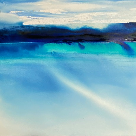(CreativeWork) Soft Swell by Scott Swinson. Watercolour Paint. Shop online at Bluethumb.