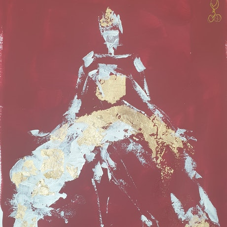 (CreativeWork) Queen for a day by Katrina Okoronkwo. Mixed Media. Shop online at Bluethumb.