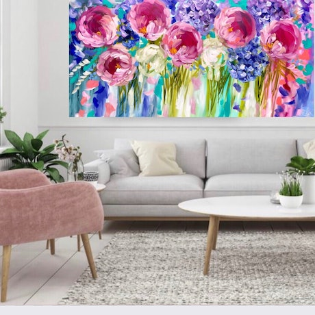 (CreativeWork) Love is in the air  by Amanda Brooks. Acrylic Paint. Shop online at Bluethumb.