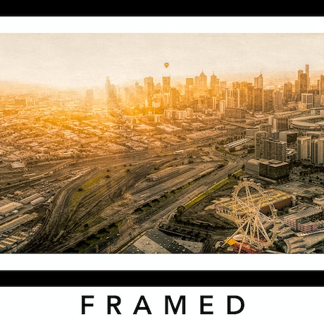 (CreativeWork) Grunge Melbourne From Above Ed. 5 of 200 by Nick Psomiadis. Photograph. Shop online at Bluethumb.