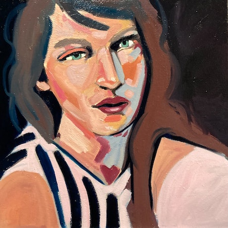 (CreativeWork) Grace by sara bell. Oil Paint. Shop online at Bluethumb.