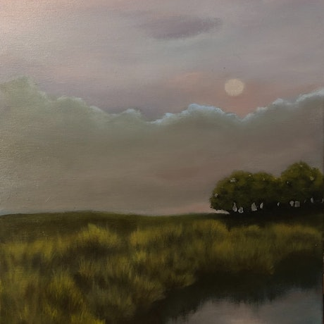 (CreativeWork) Nocturne #2 by Carolyn Stephens. Acrylic. Shop online at Bluethumb.