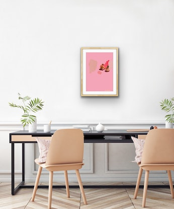 (CreativeWork) Pink Salt Limited Ed. A2 Ed. 4 of 50 by Pip Phelps. Print. Shop online at Bluethumb.