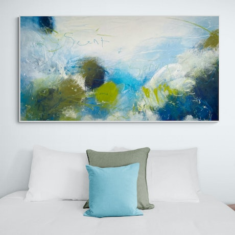 (CreativeWork) Scent Of Spring - 152 x 80CM by Cheryl Harrison MAVA. Acrylic Paint. Shop online at Bluethumb.