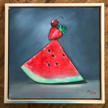 (CreativeWork) Balancing Act by Mia Laing. Oil Paint. Shop online at Bluethumb.