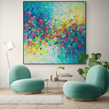 (CreativeWork) Lovable  - Framed Limited Edition Print 180cm x 180cm  Ed. 1 of 100 by Belinda Nadwie. Print. Shop online at Bluethumb.