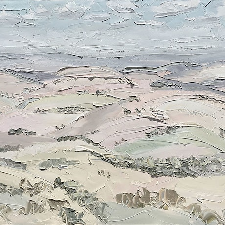 """(CreativeWork) """"Oberon (19.12.16) - Plein Air"""" by Sally West. Oil Paint. Shop online at Bluethumb."""
