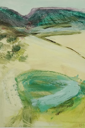 (CreativeWork) CATCHMENT by Karen McPhee. Acrylic Paint. Shop online at Bluethumb.